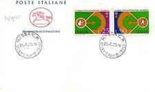 Repubblica Italiana 1973 FDC Cavallino Baseball