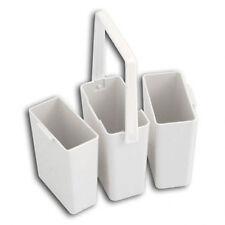 Lot de 3 Empilables Eau Conteneur Pots avec Poignée pour Peinture,Brosse