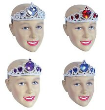 Tiara Silver Plastic With Stones Fancy Dress