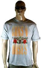 AMPLIFIED GUNS N'ROSES Schriftzug Logo Rock Star Vintage Löcher T-Shirt g.L/XL