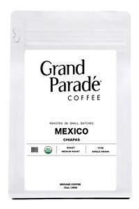 Organic Mexican Chiapas Medium Roast Ground Coffee, Fresh Roasted Daily 12oz Bag