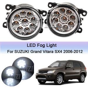 Pair Bumper LED Fog Light Lamps For Suzuki Grand Vitara 2006-2012 SX4 2008-2015