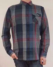 Camicie casual da uomo blu con colletto regolare