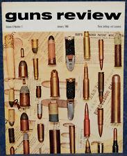 Magazine GUNS REVIEW January 1966 BEARDMORE-FARQUHAR Machine GUN, MAUSER BAYONET