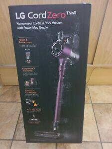 NEW SEALED LG CordZero ThinQ A9 Kompressor Stick Vacuum w Power Mop A929KVM Wine