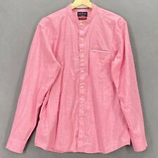 Netplay Heritage Men Shirt Pink Long Sleeve Button Down Cotton Sz Large