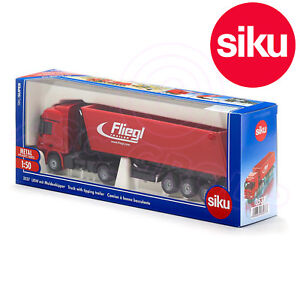 Siku 3537 Mercedes Actros Lorry Truck + Fliegl Tipping Trailer Model Toy 1:50