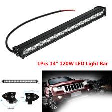 """1Pcs Slim 14"""" 120W LED Spot Beam Work Light Bar For Off-Road Driving Fog Lamp"""