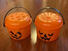 McDonald's 1986 McGoblin McPunk'n Halloween Pumpkin Happy Meal Bucket Pail Set 2