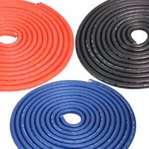 1/0 Gauge 0 GA AWG Battery Power Cable Ground Wire Roll CCA Frost Blue Red Black