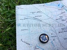 NATO BUTTON COMPASS Brass Francis Barker 1605 Mini Survival Kit SAS SBS RAF E&E