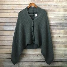 VINCE | Top Cape sweater one size knit gray 100% Cashmere NWT S M L