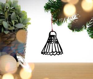 Shuttlecock Badminton- Christmas tree bauble, decoration, ornament