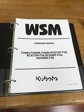 Kubota F2880 F3680 RCK72 RCK60 Ride On Mower WSM Service Manual