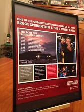 "BIG 11X14 FRAMED BRUCE SPRINGSTEEN ""2013 LIVE IN AUSTRALIA TOUR"" CD LP PROMO AD"