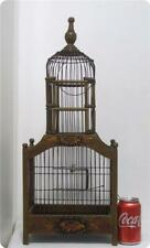 New listing Antique Vtg Wooden Metal Hand Painted Wood Wire Victorian Dome Bird Cage