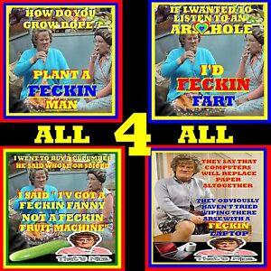 SET OF 4 MRS BROWNS BOYS COASTER JOKE NOVELTY GIFT  PARTY DVD
