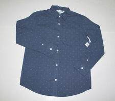 Old Navy Boy's Long Sleeve Polka Dot Classic Shirt 100%Cotton NWT Size XL (14-16