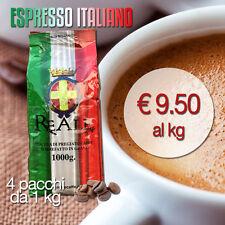 REALE CAFFÈ- Speciale per BAR. Reale Espresso Italiano in grani: 4 pacchi da 1kg