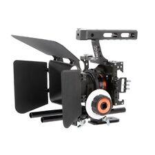 Video DSLR Camera Cage Stabilizer Kit + Follow Focus + Matte Box For GH4 A7 A7R