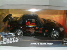 "1/24  HONDA S2000 BLACK ""JOHNNY`S""  FAST & FURIOUS , JADA,"