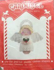 1992 CAROUSEL PLASTIC CANVAS ANGEL CHRISTMAS ORNAMENT #603 NIP