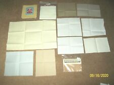 Lot of Cross Stitch Fabric of Various Sizes, Counts