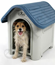 Plastic Dog Kennel Pet Cat House Weatherproof Indoor Outdoor Animal Shelter New