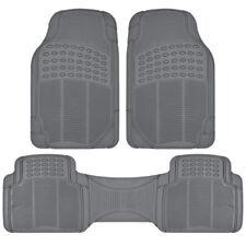 Rubber Liner for Chevrolet Equinox Floor Mats Gray 3 PC Semi Custom Fit