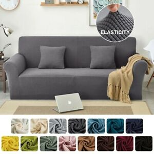 1/2/3/4 Seater Sofa Covers Elastic Stretch Settee Slipcover Soft Protector Couch