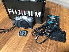 Fuji Fujifilm X-T10 XT10 XT-10 Mirrorless Camera (Silver) Excellent shape.