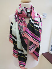 NEW!!!100% Silk Ted Baker Zebra Tribal Long Silk Scarf - STUNNING!!