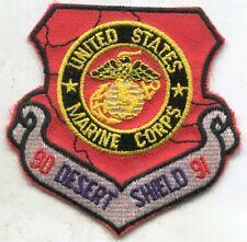 1990-91 Desert Shield Usmc United States Marines Patch