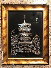 KOREAN LACQUERWARE WALL ART- PAGODA