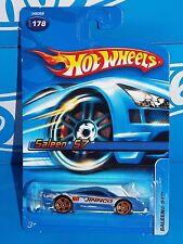 Hot Wheels 2005 Mainline #178 Saleen S7 Flat Blue w/ Orange PR5s