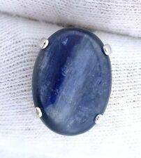 Sterling Silver Oval 16x12 Kyanite Cabochon Cab Gemstone Gem Stone Tie Tack
