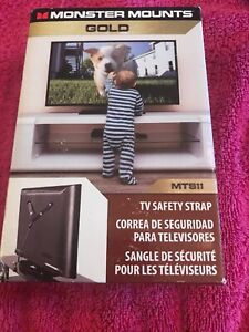 Monster Mounts TV Safety Strap ~ TV ~ Easy to Install ~ Safe & Secure MTS11