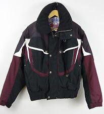 Spyder Mens Snowboarding Ski Maroon Black Parka Jacket - Large L #S13