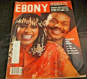 Ebony Magazine June 1979 Peaches and Herb 13x11 Journal