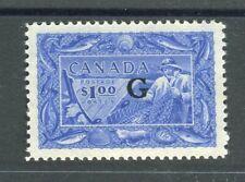 Canada KGVI 1950-51 'G' official $1 ultramarine SG.O192 MNH