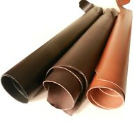 3.5MM THICK VEG TAN CRAFT TOOLING LEATHER COWHIDE BLACK - BROWN - SADDLE TAN
