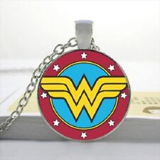 Jewellery Gift Idea Dc Super Hero Comic Wonder Woman Pendant Necklace / 80s Tv