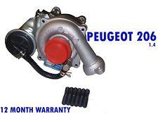 Turbo Caricatore Turbocharger Peugeot 206 Hatchback SW ESTATE 1.4 KP35 2001 - 2015