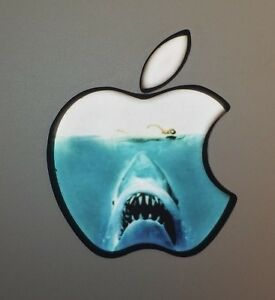 GLOWING JAWS SHARK  Apple MacBook Pro Air Mac Sticker Logo Laptop DECAL 11-17in