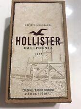 RARE Hollister California 1922 2.5 OZ Men's Eau de Cologne ~ NEW IN BOX Original