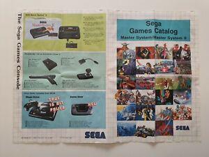 SEGA Master System Poster Sega Games Catalog Master System II