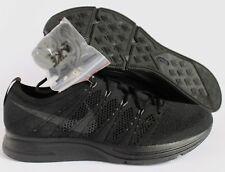 Nike Flyknit Trainer Triple Black Anthracite Men'S 8.5 Running Shoe [AH8396-004]