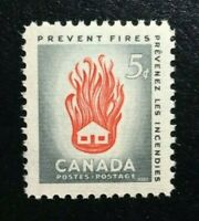 Canada #364 MNH, Prevent Fires - House on Fire Stamp 1956