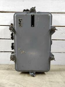 """13"""" * 8"""" Vintage Wall Mounted Industrial Electrical Junction Box With 9 outputs."""