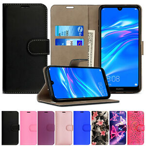 Case for Huawei Y5 Y6S Y6 Y7 2019 Leather Flip Wallet Magnetic Stand Phone Cover